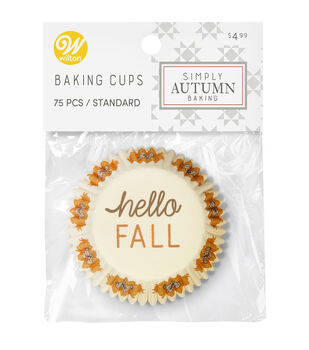 Wilton Simply Autumn Baking Cups-Hello Fall