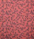 Premium Quilt Cotton Fabric-Sketched Vines Red