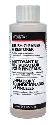 Winsor & Newton 4 fl. oz. Brush Cleaner & Restorer, , hi-res
