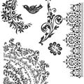 Tim Holtz Cling Rubber Stamp Set-Floral Tattoo