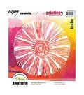 Carabelle Studio Art Printing Round Rubber Texture Plate-Starry Mandala