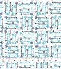 Snuggle Flannel Fabric-Aqua Sky Arrows