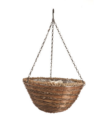 In the Garden 14'' Rope & Fern Hanging Basket