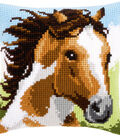 Vervaco 16\u0027\u0027x16\u0027\u0027 Cushion Counted Cross Stitch Kit-Fiery Stallion