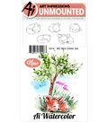Art Impressions 5 pk Cling Rubber Stamps-Watercolor Mini Critter Set