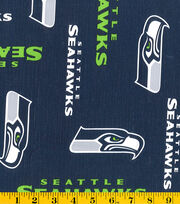 "Seattle Seahawks Tablecloth Vinyl Fabric 54""-Logo, , hi-res"