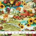 Harvest Cotton Fabric-Fall Farm Landscape