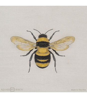 "Square By Design Woven Fabric 25""-Bumble Bee"