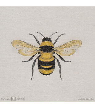 """Square By Design Woven Fabric 25""""-Bumble Bee"""