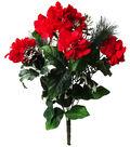 Blooming Holiday Christmas 21\u0027\u0027 Hydrangea, Pinecone & Pine Bush-Red