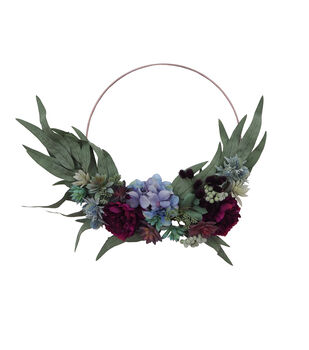 Blooming Autumn 21'' Peony, Succulent & Thistle Wreath