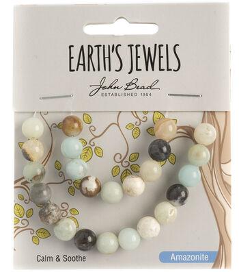 Earth's Jewels Semi-Precious Round 8mm Beads-Amazonite