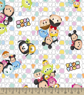 Tsum Tsum Patterned Print Fabric