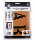 FolkArt 17 pk 5\u0027\u0027 Alphabet & Monogram Paper Stencils-Serif Font