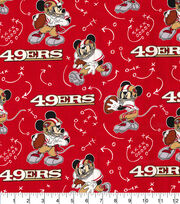 San Francisco 49ers Cotton Fabric-Mickey Mouses, , hi-res