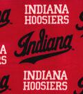 Indiana Hoosiers Fleece Fabric -Red