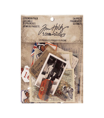 Tim Holtz Idea-ology Pack of 111 Snippets Ephemera Pack