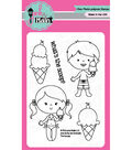 Pink & Main 5 pk Clear Stamps-The Scoop