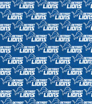 Detroit Lions Cotton Fabric -Blue, , hi-res