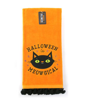 Maker's Halloween Decor 16''x26'' Towel-Halloween is Meowgical & Cat