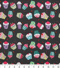 Novelty Cotton Fabric-Cupcakes & Dots