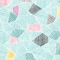 Premium Cotton Fabric 43\u0027\u0027-Teal Mosaic Geometrics