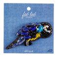 Fab Lab Wearables 3.54\u0027\u0027 Parrot Iron-on Applique with Blue Rhinestones