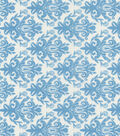 Quilter\u0027s Showcase Cotton Fabric 44\u0022-Alaskan Blue Damask