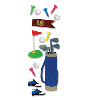 A Touch of Jolees Dimensional Stickers-Golfing