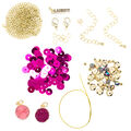 LaurDIY Mini DIY Gold Chain Bracelet Kit-Pink Druzy