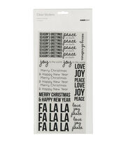 Kaisercraft Clear Stickers-Season's Greeting, , hi-res