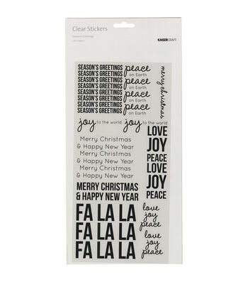 Kaisercraft Clear Stickers-Season's Greeting