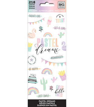 The Happy Planner Stickers-Pastel Dreams