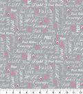 Snuggle Flannel Fabric 42\u0027\u0027-Hope, Love & Strength