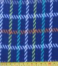 Blizzard Fleece Fabric 59\u0022-Dino Navy Plaid