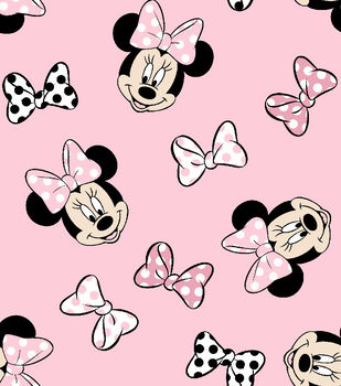 Disney Minnie Mouse Knit Fabric 58''-Tossed