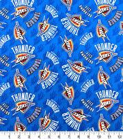 Oklahoma City Thunder Cotton Fabric-Tossed Logos, , hi-res