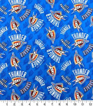 Oklahoma City Thunder Cotton Fabric-Tossed Logos