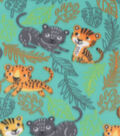 Blizzard Fleece Fabric-Bengal Jungle Cats