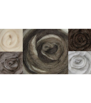 Wistyria Editions Wool Roving Stripe Furry Friends