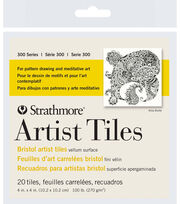 "Strathmore Artist Tiles 4""X4"" 20 Pack-Bristol Vellum, , hi-res"