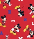 Disney Mickey Mouse Cotton Fabric -Letter Toss