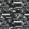 Oakland Raiders Cotton Fabric-Distressed