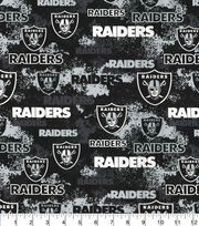 Oakland Raiders Cotton Fabric -Distressed, , hi-res