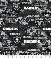 Oakland Raiders Cotton Fabric-Distressed, , hi-res