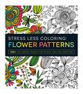 Adams Media Stress Less Coloring: Flower Patterns Book