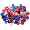 Favorite Findings Buttons-Patriotic Assorted 130/pk
