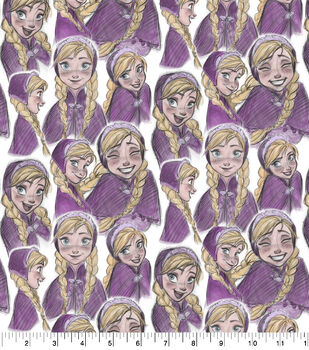 Disney Knit Fabric-Frozen Anna Sketch