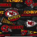 Kansas City Chiefs Fleece Fabric -Retro