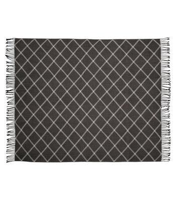 Simply Autumn 50x60'' Plaid Throw-Black